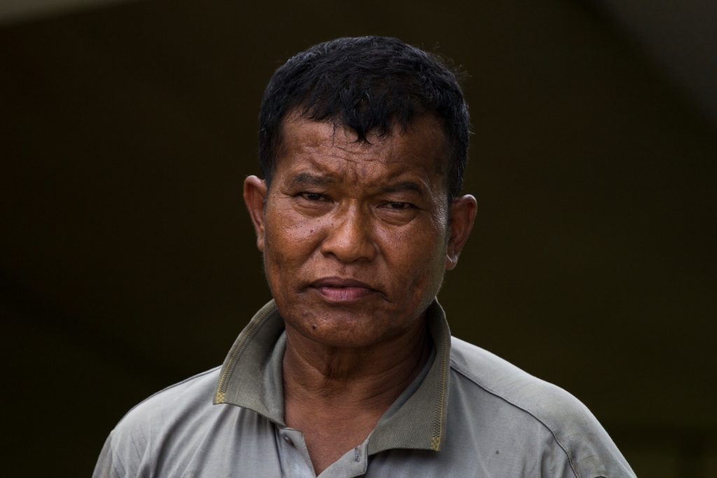 ethnic vendor's portrait
