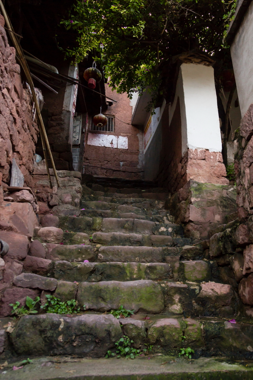 stone stairs in a village