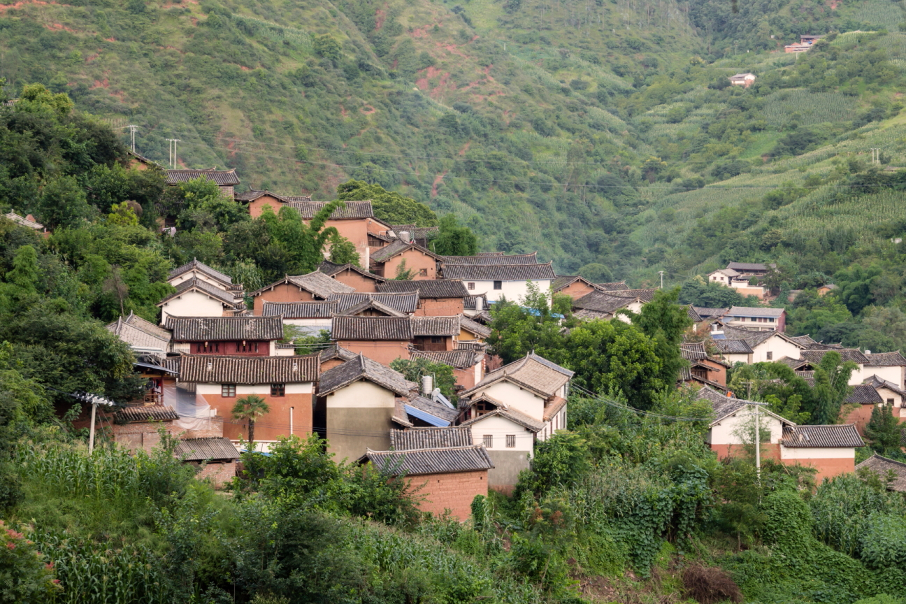 traditional chinese village in yunnan
